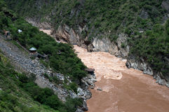 Tiger Leaping Gorge, Yunnan. Yangtze River - Tiger Leaping Gorge, Yunnan Royalty Free Stock Photo