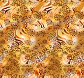 Abstract colorful block print pattern royalty free illustration