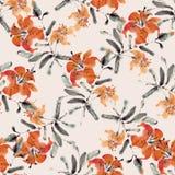 Tiger Lily Stockbild