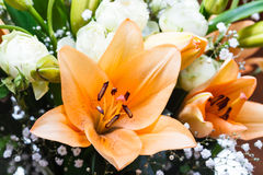 Tiger lily in a bunch of flowers Stock Photography