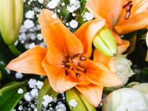 Tiger lily in a nosegay of flowers Stock Photography