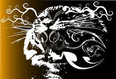 Tiger and line design Stock Photography