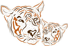 Tiger logo. Illustration art of a tiger logo with isolated background vector illustration