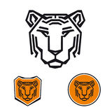 Tiger logo template Royalty Free Stock Photo