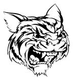 Tiger mascot character. A black and white illustration of a fierce tiger animal character or sports mascot Stock Photo