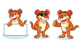 Tiger Mascot Vector happy Stock Photos