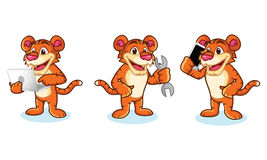 Tiger Mascot Vector with laptop Stock Photography