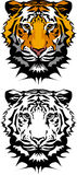 Tiger Mascot Vector Logo. Vector Illustration of Tiger Mascot Logos Royalty Free Stock Photos