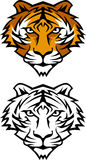 Tiger Mascot Vector Logo Stock Photo