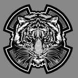 Tiger-Maskottchen-grafisches vektorzeichen Stockbild