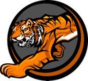 Tiger-Maskottchen-Karosserien-Grafik Stockfotografie