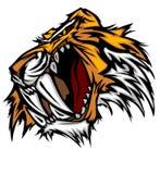 Tiger-Maskottchen-vektorzeichen Stockfotografie