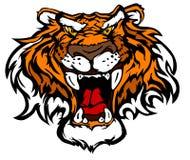 Tiger-Maskottchen-vektorzeichen Stockbild