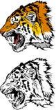 Tiger-Maskottchen-Zeichen Lizenzfreies Stockfoto