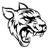 Tiger Mean Animal Mascot Image libre de droits