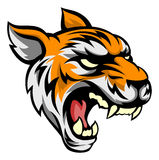 Tiger Mean Animal Mascot. An illustration of a tiger animal mean sports mascot head Royalty Free Stock Photo