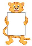 Tiger with message Royalty Free Stock Photo