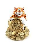 Tiger with a money. Stock Photos