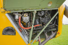 Tiger Moth biplane engine Royalty Free Stock Photography