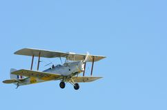 Tiger Moth Biplane in flight Stock Photography