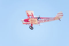Tiger Moth fly-by Stock Photography