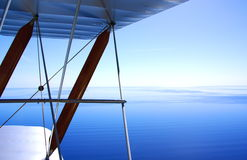 Tiger Moth Over The Gulf St Vincent. Photograph taken from a vintage Tiger-Moth Biplane looking down onto the Gulf St Vincent(Adelaide, Australia stock photos