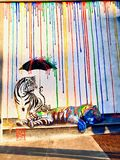 Tiger Mural Imagem de Stock