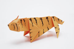 Tiger origami Royalty Free Stock Photo