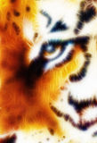 Tiger ornament  fractal background Stock Image