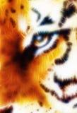 Tiger ornament  fractal background Stock Image