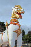 Tiger pagoda in temple Stock Photo