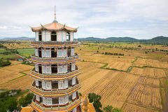 Tiger pagoda temple, Kanchanaburi Thailand Stock Photo