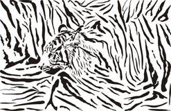 Tiger pattern background vector illustration