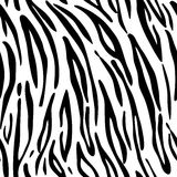 Tiger. Pattern texture repeating seamless monochrome black & white. Stock Photos