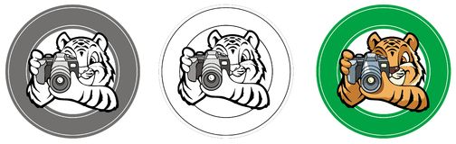 Tiger-photographer Royalty Free Stock Photos