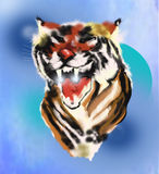 Tiger. The picture painted in the program photoshop Royalty Free Stock Images