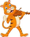 Tiger playing his violin Royalty Free Stock Images
