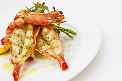 Tiger Prawns Stock Images