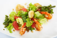 Tiger prawns grille herbs and spices Stock Photo