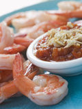 Tiger Prawns with Romesco Sauce Royalty Free Stock Photos