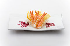 Tiger prawns sashimy Royalty Free Stock Photography