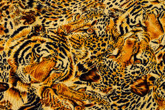 Tiger print fabric Royalty Free Stock Image
