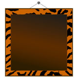 Tiger print frame Stock Photography