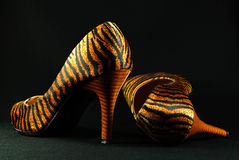 Tiger Print Shoes Stock Photos
