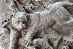 Tiger reliefs Stock Photo