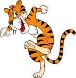 Tiger Running Cartoon, glücklich und Betrieb - Vector Illustration Lizenzfreies Stockbild
