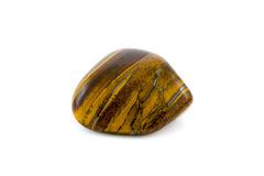 Tiger's eye adorable gemstone close up white background Stock Photography