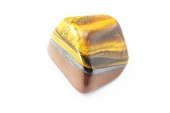 Tiger s Eye Birth Stone. Royalty Free Stock Photos