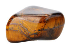 Tiger's eye, isolated. Royalty Free Stock Photography