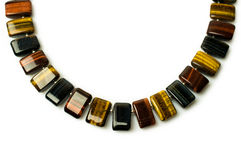 Tiger's eye necklace Royalty Free Stock Photography